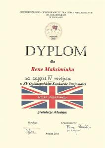 XV Ogólnopolski Konkurs Znajomości Języka Angielskiego