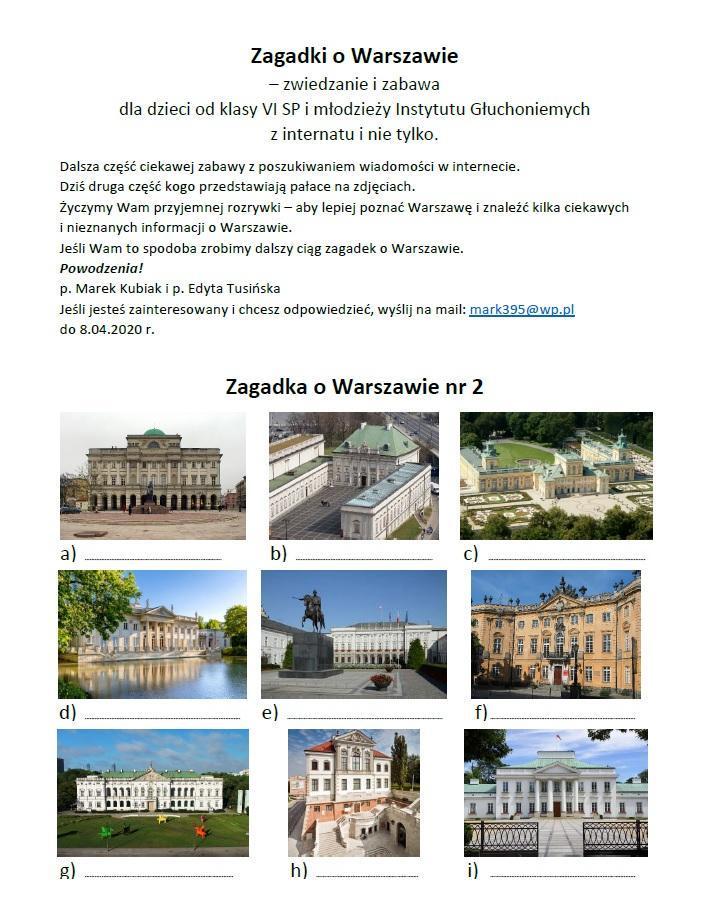 Zagadka 2 Warszawa